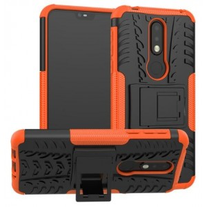 Protection Antichoc Type Otterbox Orange Pour Nokia 4.2