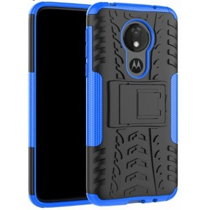 Protection Antichoc Type Otterbox Bleu Pour Motorola Moto G7 Power