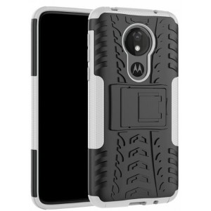 Protection Antichoc Type Otterbox Blanc Pour Motorola Moto G7 Power