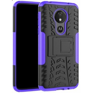 Protection Antichoc Type Otterbox Violet Pour Motorola Moto G7 Power