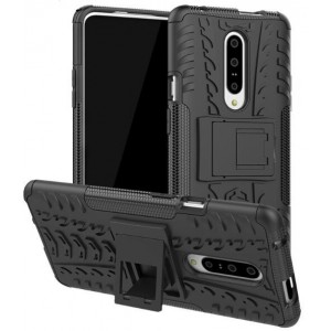 Protection Solide Type Otterbox Noir Pour OnePlus 7