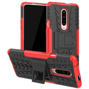 Protection Antichoc Type Otterbox Rouge Pour OnePlus 7