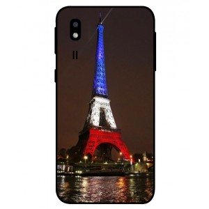 Coque De Protection Tour Eiffel Couleurs France Pour Samsung Galaxy A2 Core
