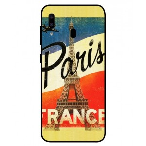 Coque De Protection Paris Vintage Pour Samsung Galaxy A20