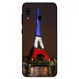 Coque De Protection Tour Eiffel Couleurs France Pour Samsung Galaxy A20