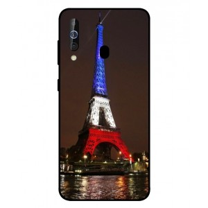 Coque De Protection Tour Eiffel Couleurs France Pour Samsung Galaxy M40