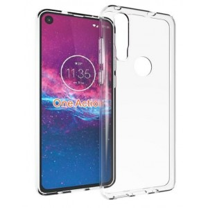 Coque De Protection En Silicone Transparent Pour Motorola One Action