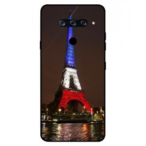 Coque De Protection Tour Eiffel Couleurs France Pour LG V40 ThinQ