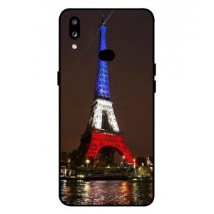 Coque De Protection Tour Eiffel Couleurs France Pour Samsung Galaxy A10s