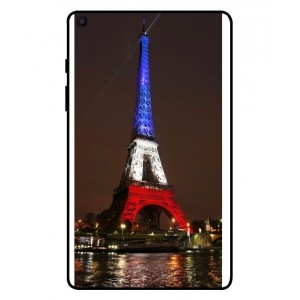 Coque De Protection Tour Eiffel Couleurs France Pour Samsung Galaxy Tab A 8.0 2019