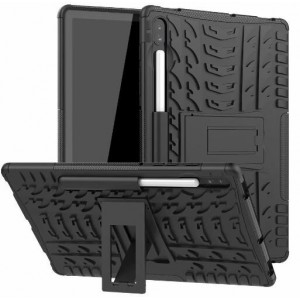 Protection Solide Type Otterbox Noir Pour Samsung Galaxy Tab S6