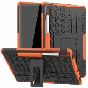 Protection Antichoc Type Otterbox Orange Pour Samsung Galaxy Tab S6
