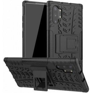 Protection Solide Type Otterbox Noir Pour Samsung Galaxy Note 10 Plus