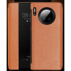 Protection Etui Flip Folio Dot View Orange Pour Huawei Mate 30 5G