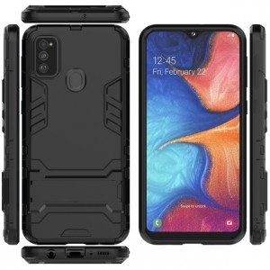 Protection Solide Type Otterbox Noir Pour Samsung Galaxy M30s