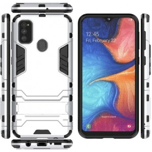 Protection Antichoc Type Otterbox Blanc Pour Samsung Galaxy M30s