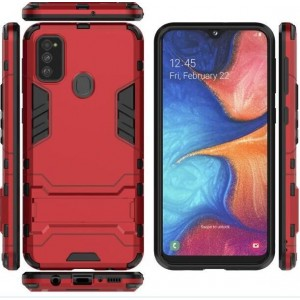Protection Antichoc Type Otterbox Rouge Pour Samsung Galaxy M30s