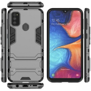 Protection Antichoc Type Otterbox Gris Pour Samsung Galaxy M30s