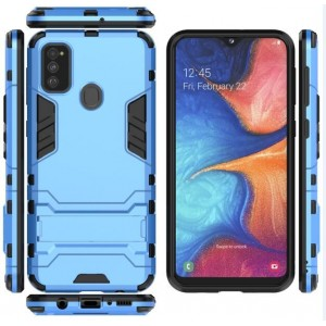 Protection Antichoc Type Otterbox Azur Pour Samsung Galaxy M30s
