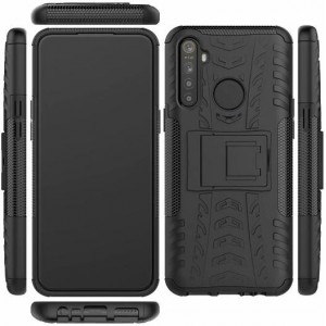 Protection Solide Type Otterbox Noir Pour Oppo Realme 5 Pro