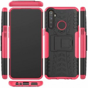 Protection Antichoc Type Otterbox Rose Pour Oppo Realme 5 Pro