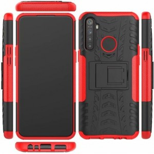 Protection Antichoc Type Otterbox Rouge Pour Oppo Realme 5 Pro