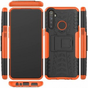 Protection Antichoc Type Otterbox Orange Pour Oppo Realme 5 Pro