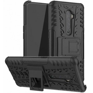 Protection Solide Type Otterbox Noir Pour Oppo Reno 2