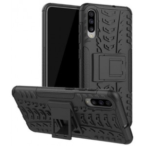 Protection Solide Type Otterbox Noir Pour Samsung Galaxy A70