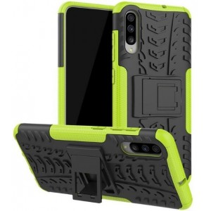 Protection Antichoc Type Otterbox Vert Pour Samsung Galaxy A70