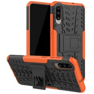 Protection Antichoc Type Otterbox Orange Pour Samsung Galaxy A70