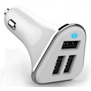 Chargeur Allume-Cigare Dual USB 3.1A Pour HTC Wildfire X