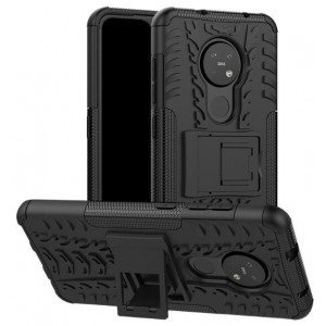 Protection Solide Type Otterbox Noir Pour Nokia 6.2