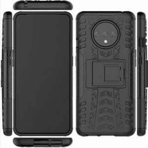 Protection Solide Type Otterbox Noir Pour OnePlus 7T