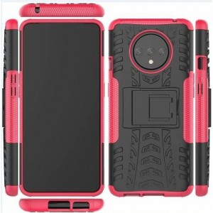 Protection Antichoc Type Otterbox Rose Pour OnePlus 7T
