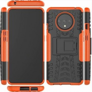 Protection Antichoc Type Otterbox Orange Pour OnePlus 7T