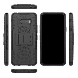 Protection Solide Type Otterbox Noir Pour LG V50S ThinQ 5G