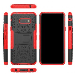 Protection Antichoc Type Otterbox Rouge Pour LG V50S ThinQ 5G