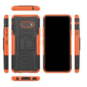 Protection Antichoc Type Otterbox Orange Pour LG V50S ThinQ 5G