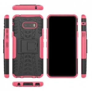 Protection Antichoc Type Otterbox Rose Pour LG G8X ThinQ