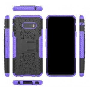 Protection Antichoc Type Otterbox Violet Pour LG G8X ThinQ