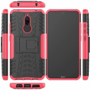 Protection Antichoc Type Otterbox Rose Pour Xiaomi Redmi 8