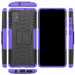 Protection Antichoc Type Otterbox Violet Pour Samsung Galaxy A51