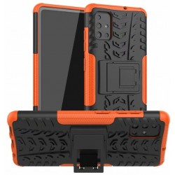 Protection Antichoc Type Otterbox Orange Pour Samsung Galaxy A71