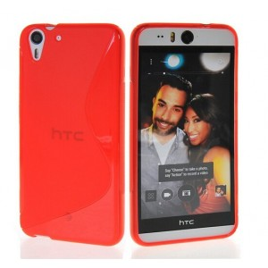 Coque De Protection En Silicone Rouge Pour HTC Desire Eye