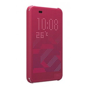 Protection Etui Flip Folio Dot View Rose Pour HTC Desire Eye