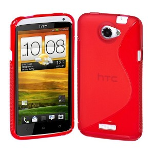 Coque De Protection En Silicone Rouge Pour HTC One X