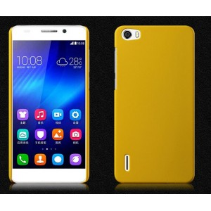 Coque De Protection Rigide Jaune Pour Huawei Honor 6 Plus