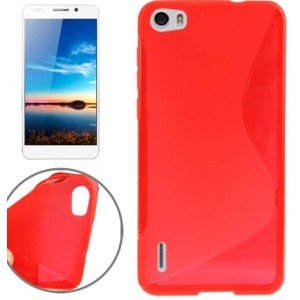 Coque De Protection En Silicone Rouge Pour Huawei Honor 6 Plus
