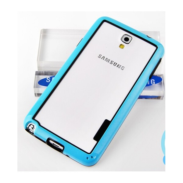 protection bumper bleu pour samsung galaxy note 3 lite. Black Bedroom Furniture Sets. Home Design Ideas